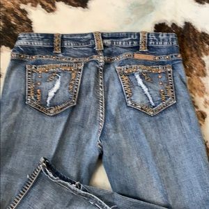 Cowgirl Tuff Lou Lou Tan jeans 34w x 33l